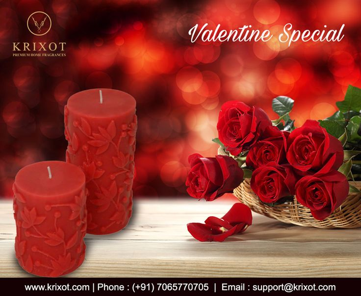 Make your Beloved Bae and Partner feel uber special this #ValentineDay as you place on her palms these Picture perfect pretty #RoseEmbossedCandles that doubles the fragrant air in her life exclusively at the House of #Krixot!  What is more? Use Coupon Code Val30 and get 30% on gifts you shop, visit www.krixot.com.