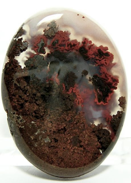 Red Plume Moss Agate Stone Cabochon 255 carats par FenderMinerals,