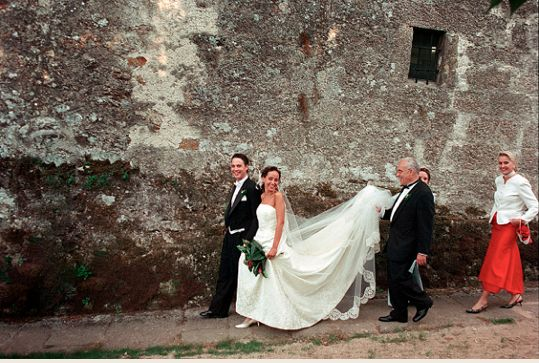 Italian Tradition Of The Groom Walking His Bride To The