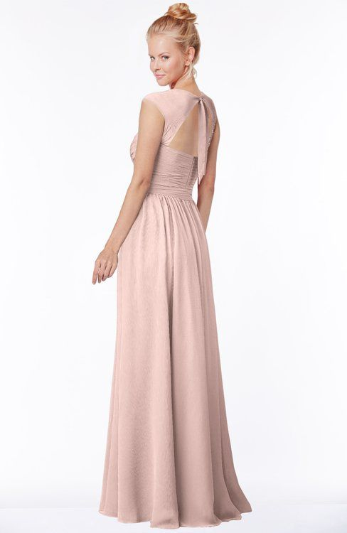 0dc18c8e9f82 ColsBM Anna Dusty Rose Modest Sleeveless Half Backless Chiffon Floor Length  Bridesmaid Dresses | Hemline and Dusty rose