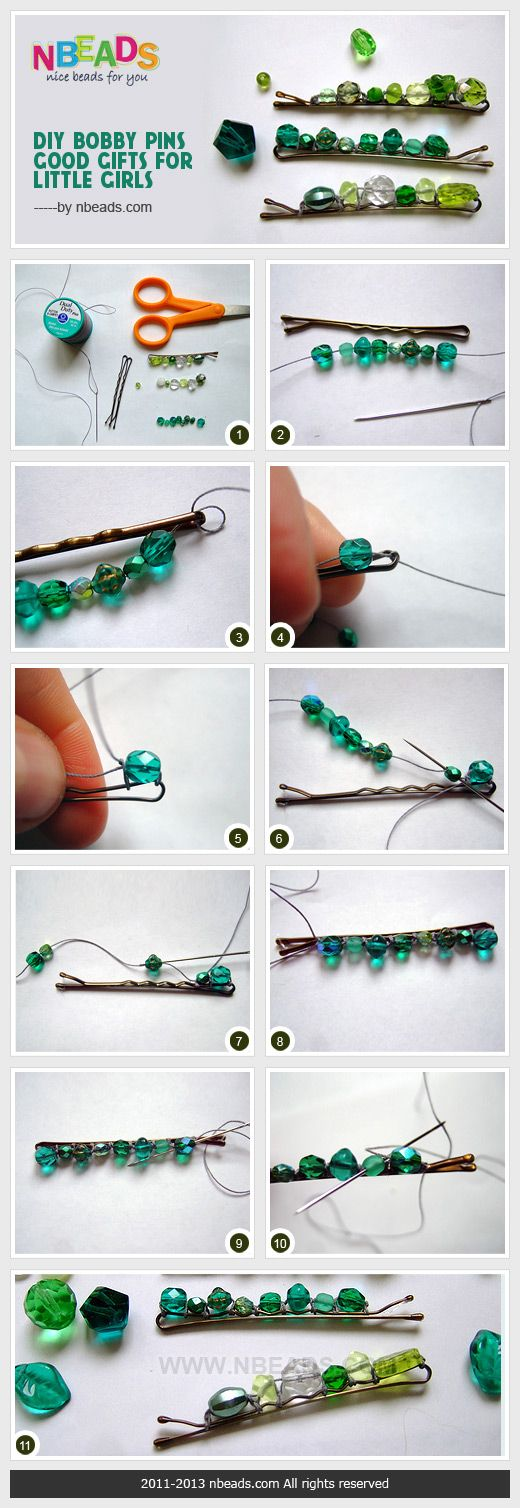 DIY Bobby Pins-Good Gifts For Little Girls Pictures, Photos, and Images for Facebook, Tumblr, Pinterest, and Twitter