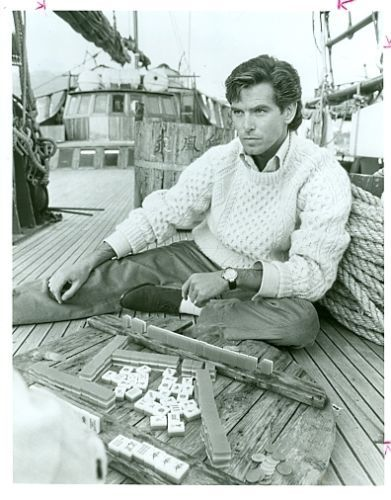Pierce Brosnan Plays Mahjong James Clavell Noble House Original '87 NBC TV Photo | eBay