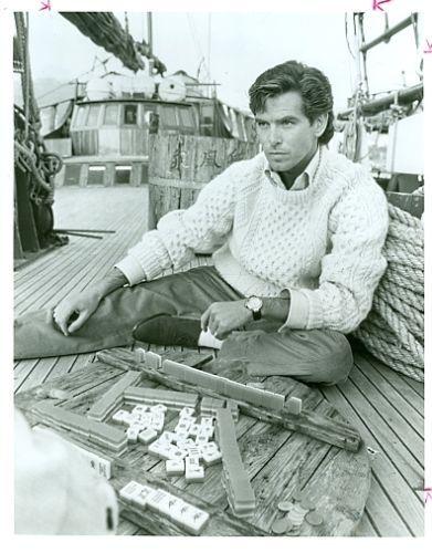Pierce Brosnan Plays Mahjong James Clavell Noble House Original '87 NBC TV Photo | eBay