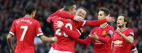 Great win today....FT : Manchester United 3 - 1 Leicester City....goal scored by Robin Van Persie, Radamel Falcao n (og) Wes Morgan