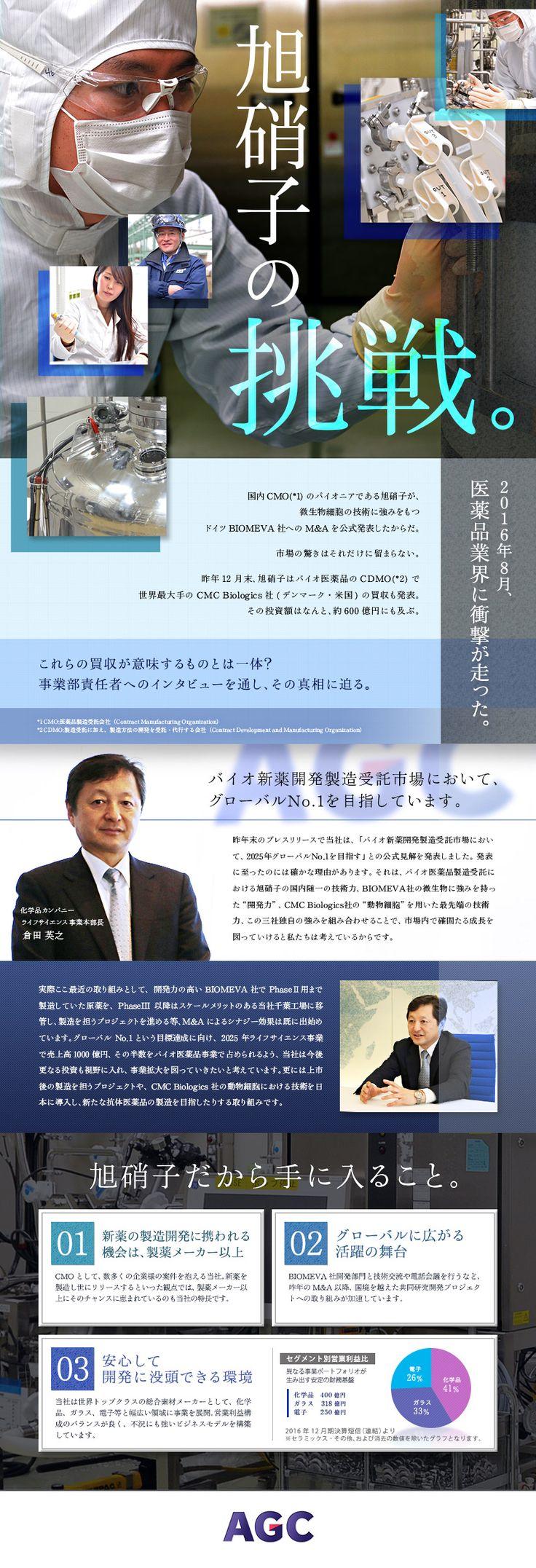 旭硝子株式会社(東証一部上場)/バイオ医薬品の製造、プロセス開発、品質保証・品質管理 ◎年間休日日数123日の求人PR - 転職ならDODA(デューダ)