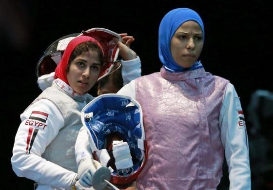 Egypt's Eman Gaber and Rana El Husseiny   London2012