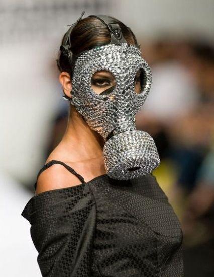 Modern russian gas mask, swarovski make your own design
