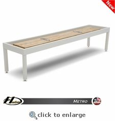 Outdoor Shuffleboard Table by Hudson, may be available with glow in the dark finish