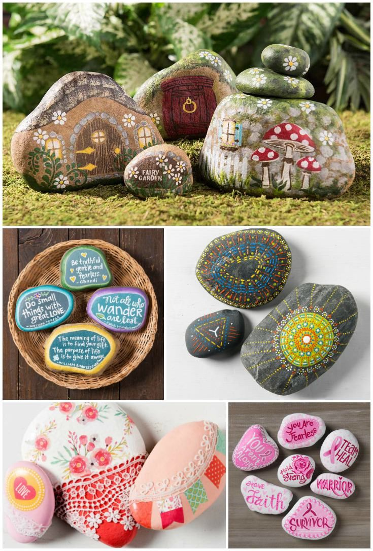 Painted rocks are all the rage right now! I'm not sure if you've heard of the Kindness Rocks project, but it's the reason why people are painting rocks in the first place (besides the fact that it's j