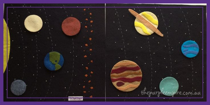 A hand stitched play mat with lots of built in learning. Each planet attaches to the background using your choice of buttons or Velcro, which helps...