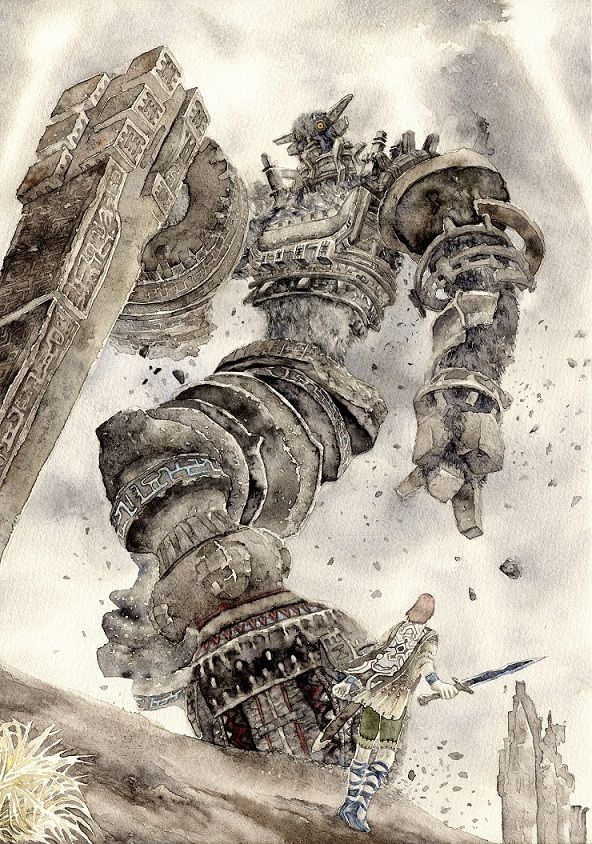 shadow of the colossus. This game is awesome! Would love to have a print of this