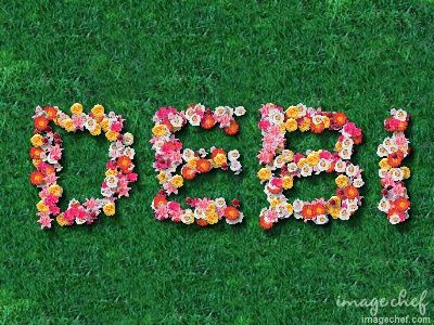 Flower Text - DEBI