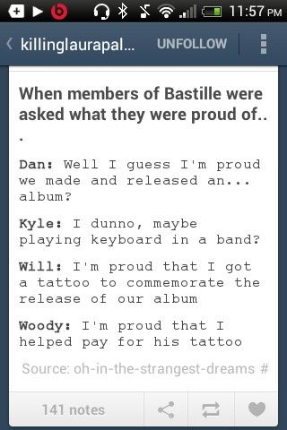 Woody is like the little adorable huggable band member, he should be very proud.