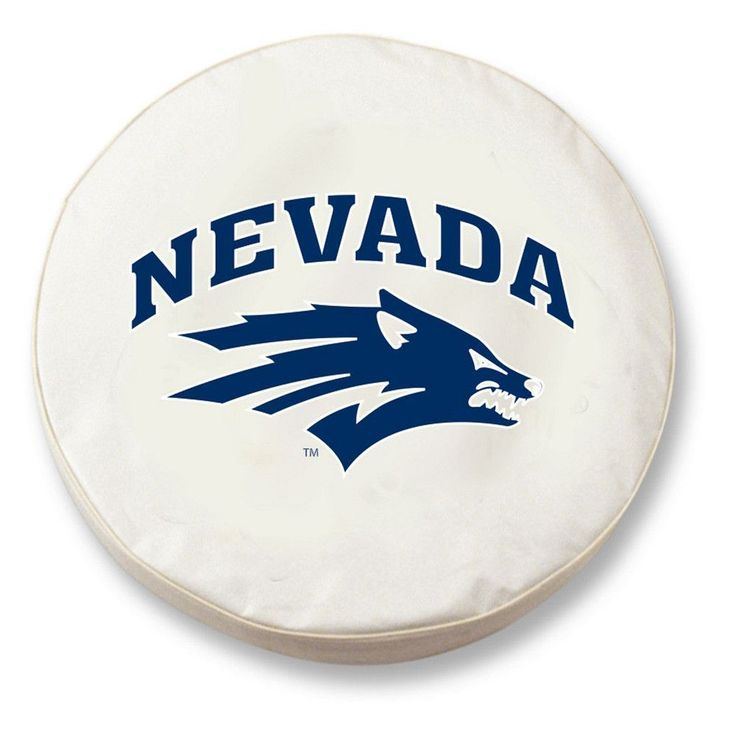 Nevada Wolf Pack White Tire Cover w/ Security Grommets