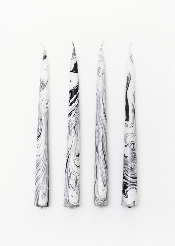 Learn How to Make Marbled Candles | The Etsy Blog