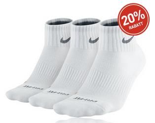 Nike 3 Pack DRI-FIT Cushion Quarter Laufsocken mit 20% Rabatt / Discount - 10,63 €