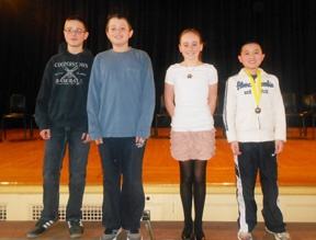 Jesse Shih placed first in the school-wide competition of the National Geography Bee Competition at the C. J. Hooker Middle School. Second place went to Ryan Garton, and Olivia Klugman and Alexander Gross won third and fourth place, respectively. The school-level bee, where students answered questions on geography, was the first round in the 24th annual National Geographic Society Bee. Shih will be administered a qualifying test to determine whether he will compete at the state-level.