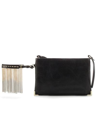 Zara clutch bag with chain bracelet