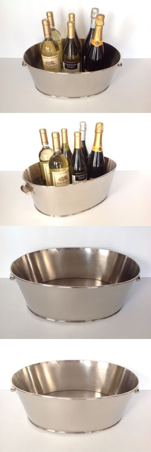 Ice Buckets and Wine Coolers 63506: Pottery Barn Harrison Party Bucket Wine Champagne Bucket Made Of Steel New -> BUY IT NOW ONLY: $89 on eBay!