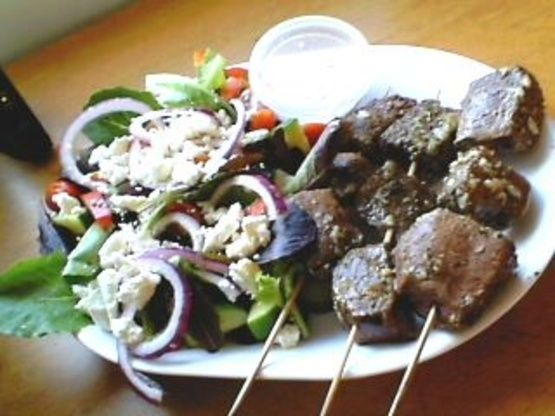 Make and share this Beef Souvlaki recipe from Food.com.