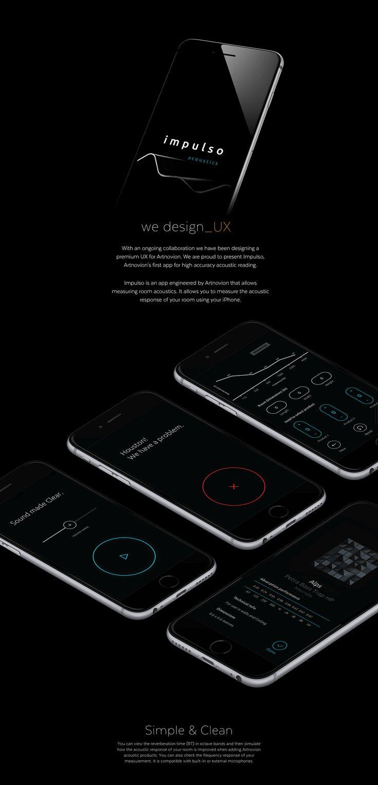 Impulso Acoustics App on App Design Served