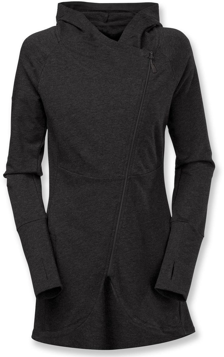 A great way to beat the chills after a long run—The North Face Tadasana Wrap-Ture Tunic.