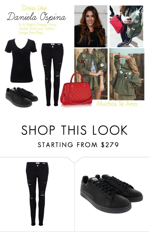 """""""Daniela Ospina  """" by sohajacobs on Polyvore featuring Frame Denim and adidas"""