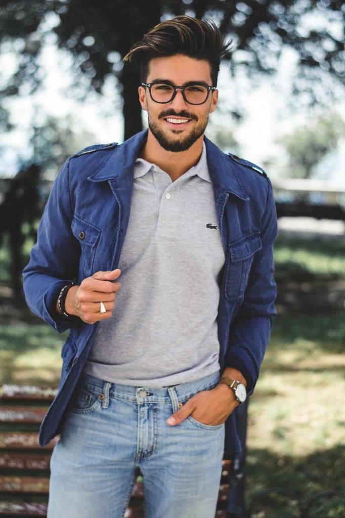 HOW TO WEAR POLO SHIRT: 80S CASUAL – LACOSTE STYLE GUIDE http://www.99wtf.net/young-style/urban-style/mens-denim-shirt-urban-fashion-2016/