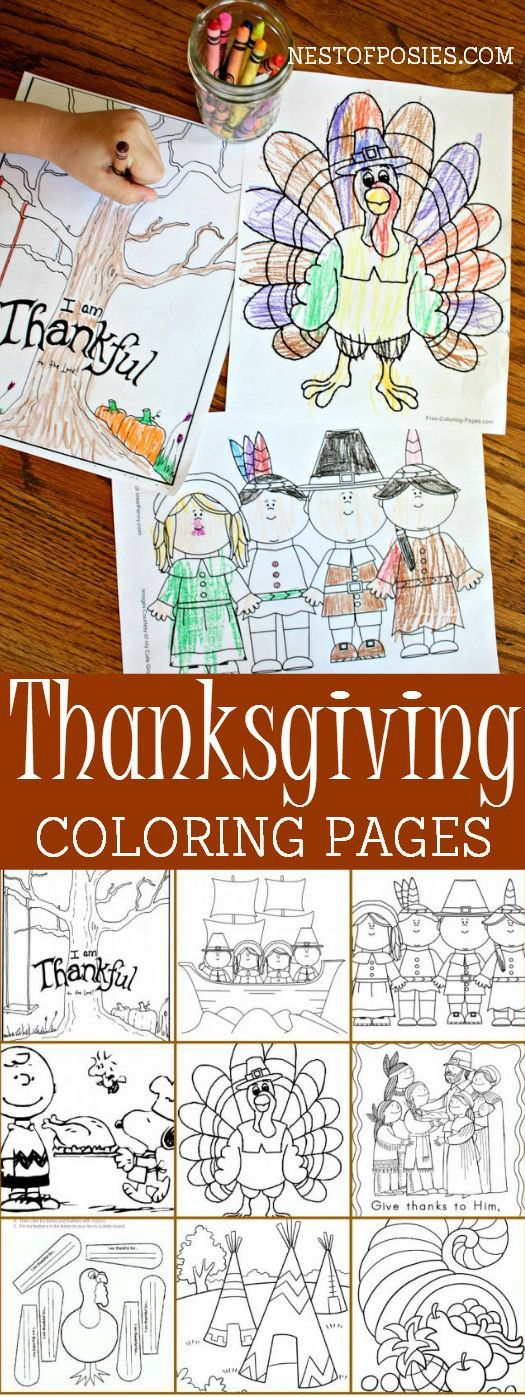 Thanksgiving Coloring Pages- keep little people occupied this Thanksgiving with these.
