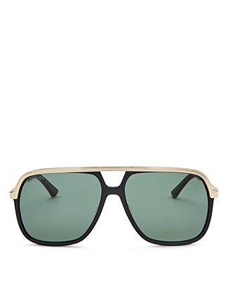 f41bdc8626a Gucci Vintage Web Brow Bar Aviator Sunglasses