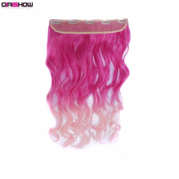 Girlshow One-piece 5 clips in Synthetic Hair Exten…