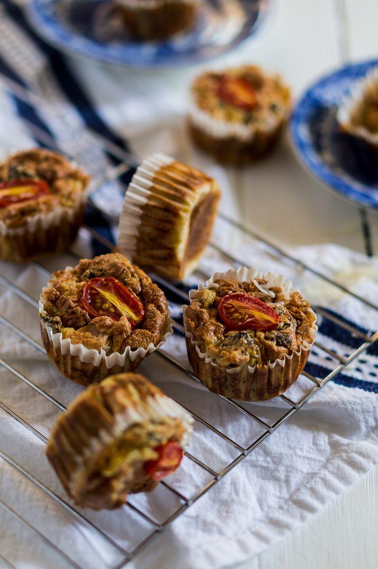 Mini Souffle Frittata with Dried Porcini