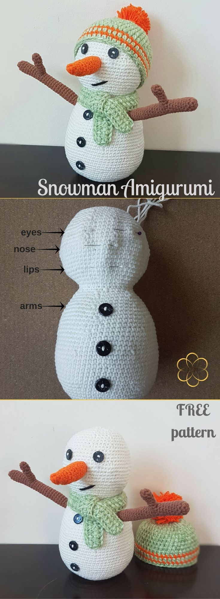 What could be better than a cozy little snowman to prepare you for the jolly season? Try him!