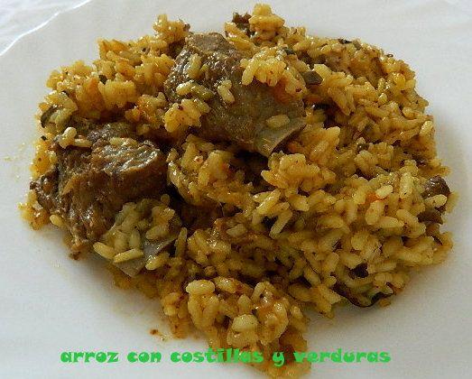 las recetas de mi abuela: ARROZ CON COSTILLAS Y VERDURAS