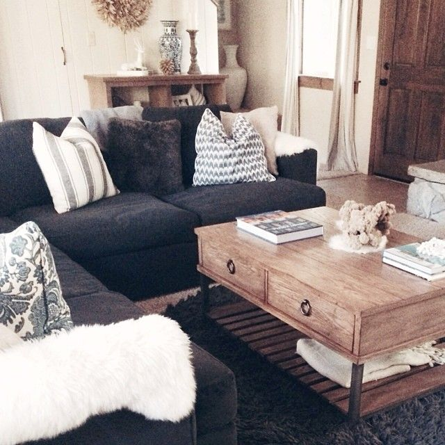 Best 25+ Black couch decor ideas on Pinterest Black sofa, Big - deep couches living room