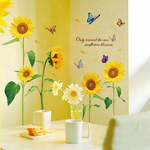VANKER PVC Removable Sunflower Butterfly Home Decor Wall Sticker DIY Art Vinyl Decal Vanker https://www.amazon.ca/dp/B010WL51ZA/ref=cm_sw_r_pi_dp_Bqv7wb061N02G
