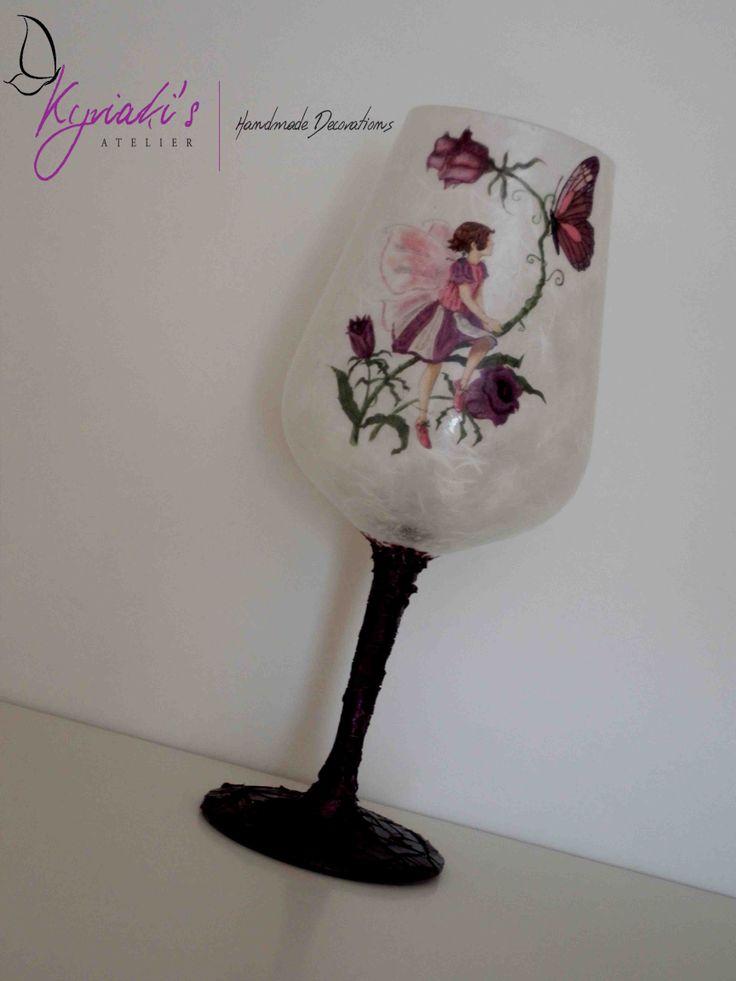 "My handmade Glass Candleholder ""Purple Fairy"" by Kyriaki's Atelier"