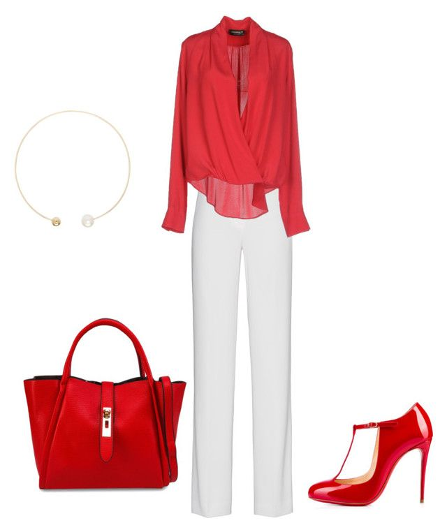 """Untitled #10"" by roxramp on Polyvore featuring DKNY, A'biddikkia, Unisa, Sophie Bille Brahe, Christian Louboutin, women's clothing, women's fashion, women, female and woman"