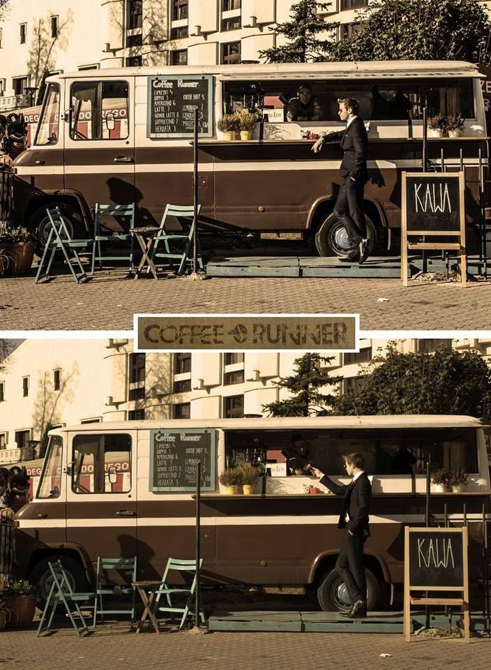 Cafe on wheels in my 76'Mercedes. #coffeebus #CoffeeRunner #Coffee Runner
