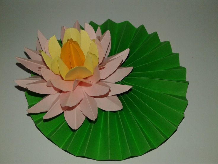 This lotus is made with color papers