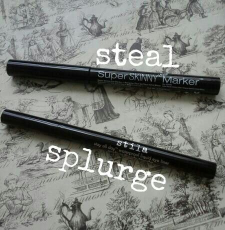 Stila Stay All Day Waterproof Liquid Eye Liner $20 Nyx Super Skinny Eye Marker $9 The Nyx eyeliner works just as well if not better