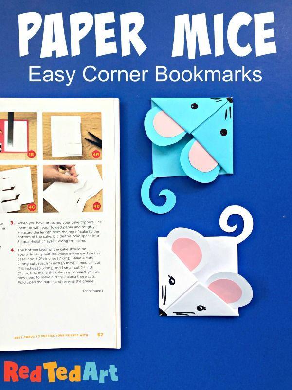 Easy Mouse Corner Bookmark Origami Bookmark Corner Corner