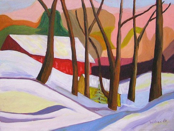 2490 Winter in the bush by Creemoreartist on Etsy