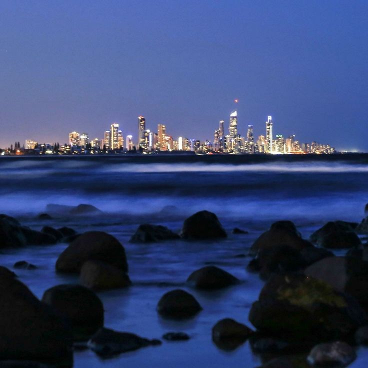 Surfers Paradise looking stunning from Burleigh Heads Beach