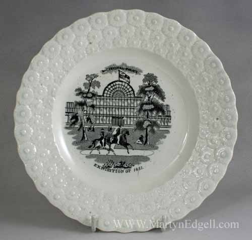 Crystal Palace commemorative childs plate, circa 1851