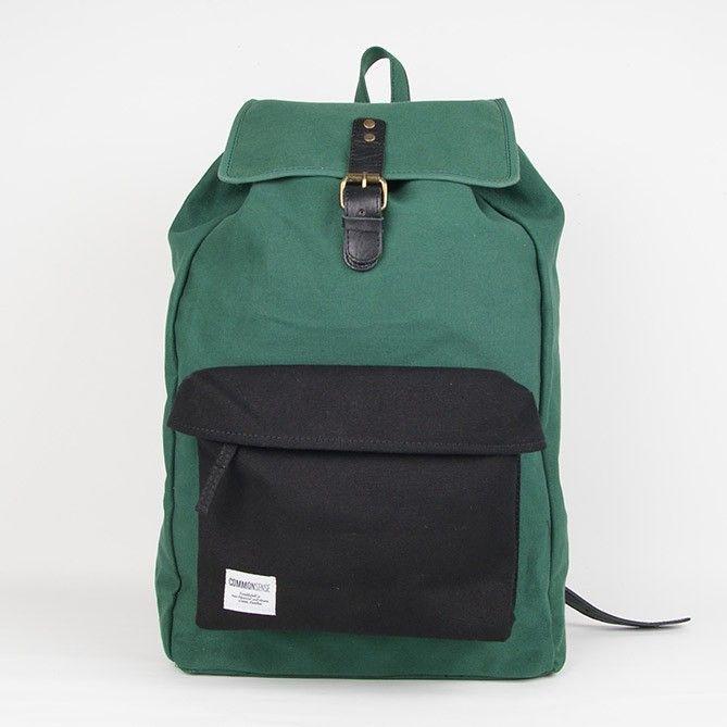 Valter / Backpack. green with black pocket