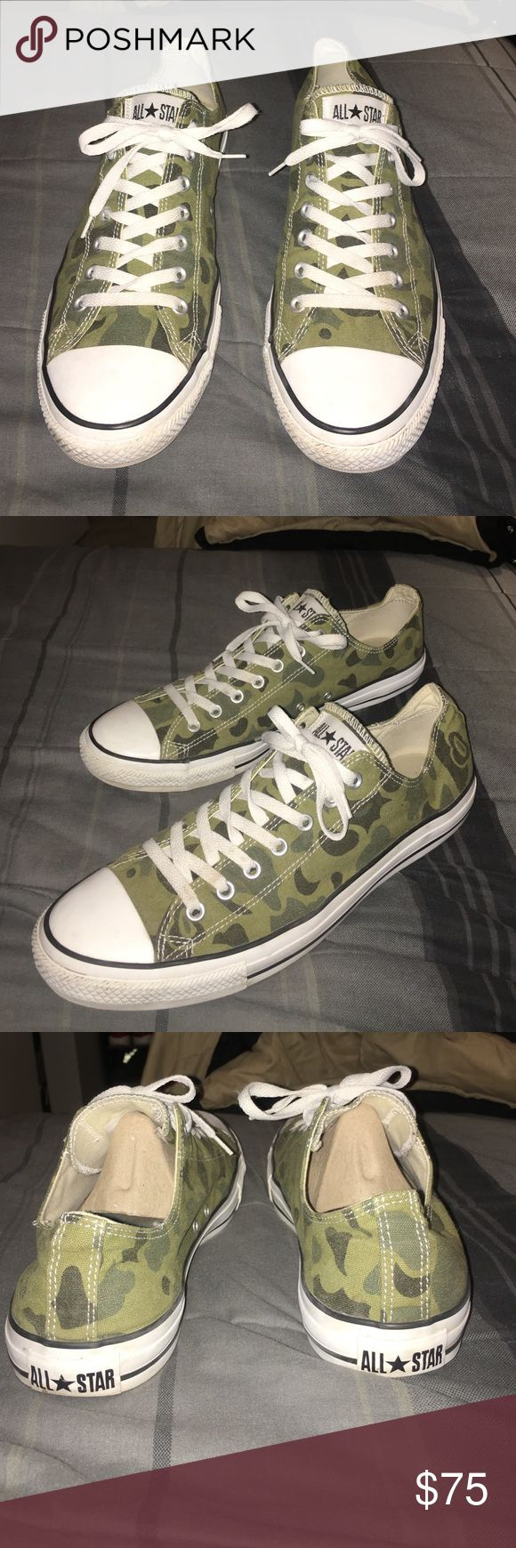 Camo converse Worn 3 times, basically brand new. Willing to trade so shoot me offers. Converse Shoes Sneakers