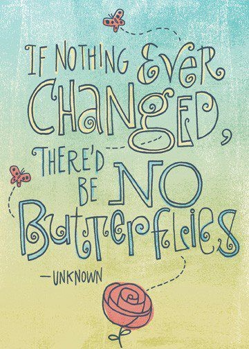 Yay for lessons from butterflies!: Changing Is Good, Remember This, Good Things, Butterflies, Beautiful, Truths, So True, Favorite Quotes, Changing Quotes