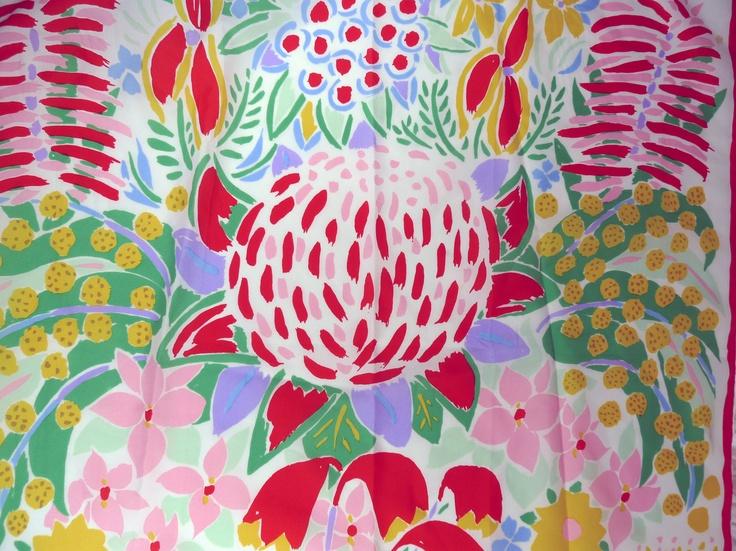 Floral Ken Done Scarf 1986. $18.00, via Etsy.