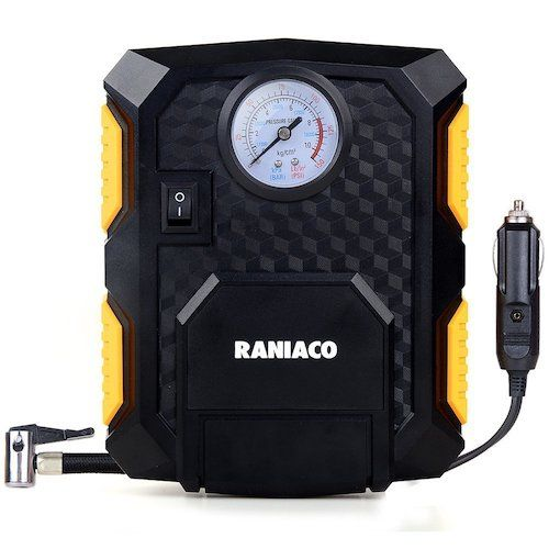 3. Raniaco 12V DC 150PSI Portable Electric Auto Air Compressor Pump and Car Tire Inflator